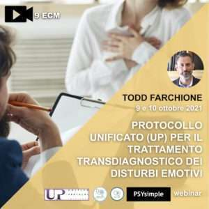 farchione, barlow, UP, protocollo unificato, unified protocol, disturbi emotivi, tages onlus, psysimple